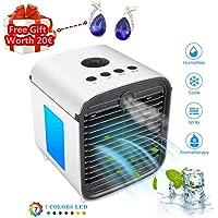 Air Cooler Leakproof LuftküHler Mobile KlimageräTe Klimaanlage Ventilator Cool Air Ventilator, Luftbefeuchter und Luftreiniger für BüRo, Hotel, KüChe (Weiß)