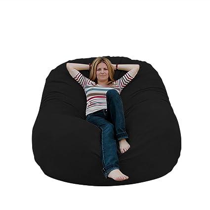 Superb Cozy Sack 6 Feet Bean Bag Chair Large Black Theyellowbook Wood Chair Design Ideas Theyellowbookinfo