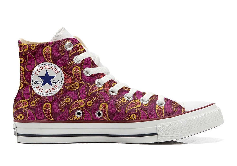 Converse Custom - personalisierte Schuhe (Handwerk Produkt) Decor Paisley  35 EU
