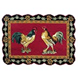 C&F Home French Country Rooster Hooked Rug, 2' x 3', Black