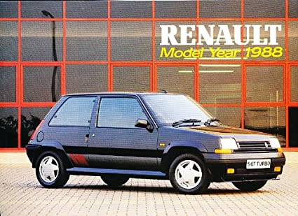 1988 RENAULT RANGE FULL-LINE COLOR SALES BROCHURE (BRITISH): 5, 9