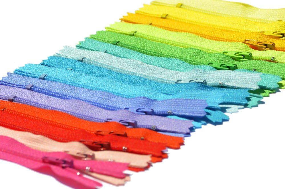 15 Zippers YKK 4 Nylon Coil YKK #3 Skirt /& Dress Zippers ~ Assortment of Colors
