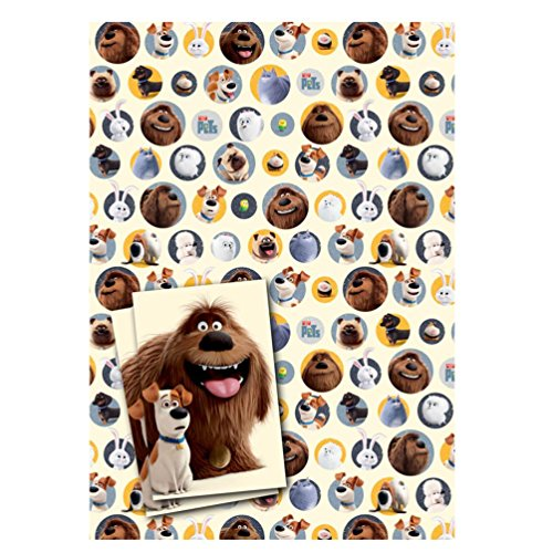 - Secret Life Of Pets 2 Sheets Of Gift Wrap And 2 Tags