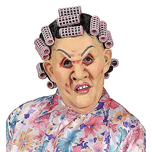 Curlers In Hair Costume (Mother - In - Law Masks W/ Hair & Curlers Wig For Fancy Dress Costumes &)