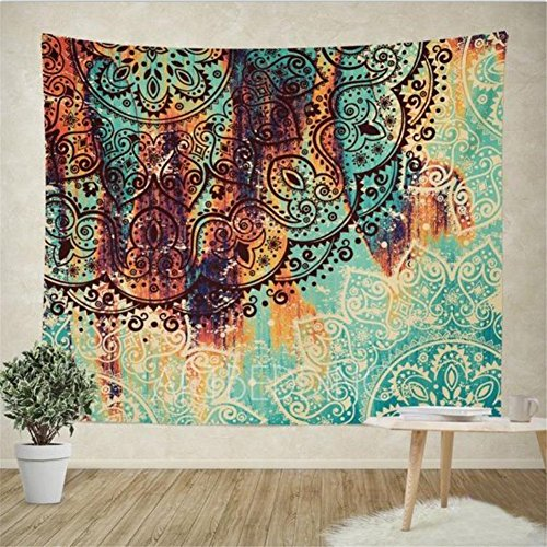 Psychedelic Elephant Tapestry Coverlet Bedspread