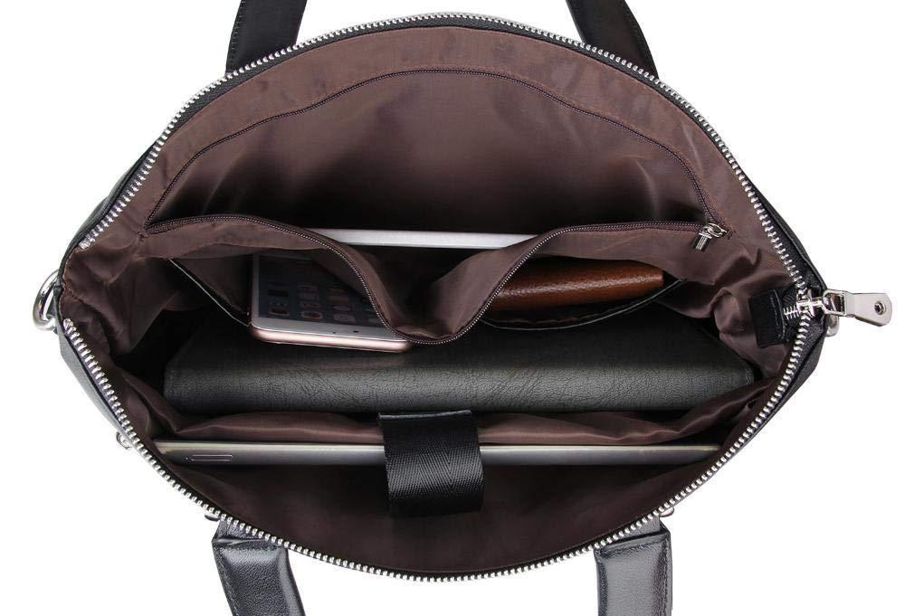 Botoushipeifangxiaomaipu Simple Business Man Bag Leather Briefcase Head Cowhide Mens Handbag