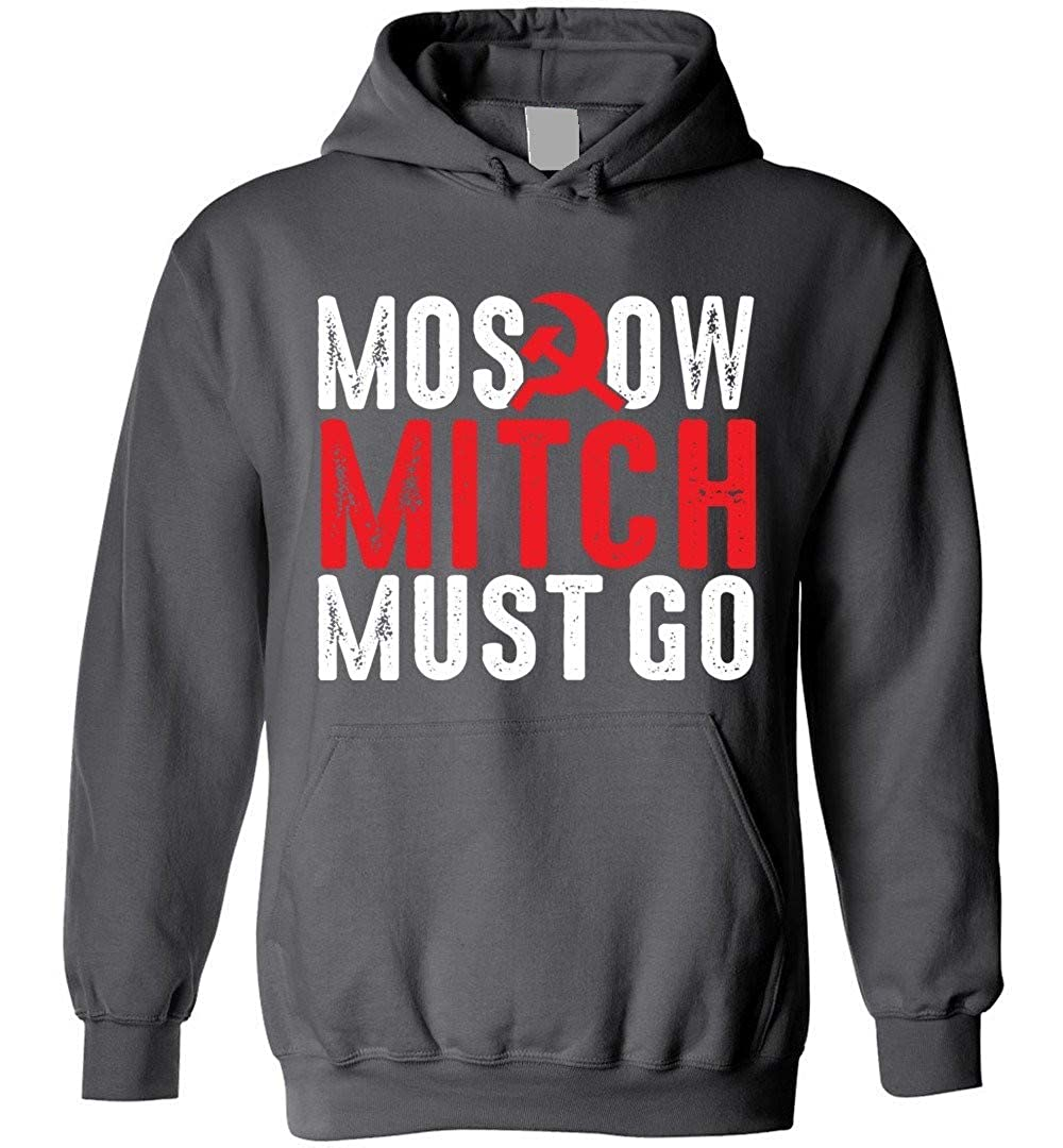 TSHIRTAMAZING Moscow Mitch Must Go Blend Hoodie Charcoal