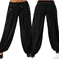 MOIKA Leichte Haremshose in Viele Muster Damen Pumphose Haremshose Blumenmuster Lange Hose Damen Sommerhose Pumphose Yoga Hose Freizeithose