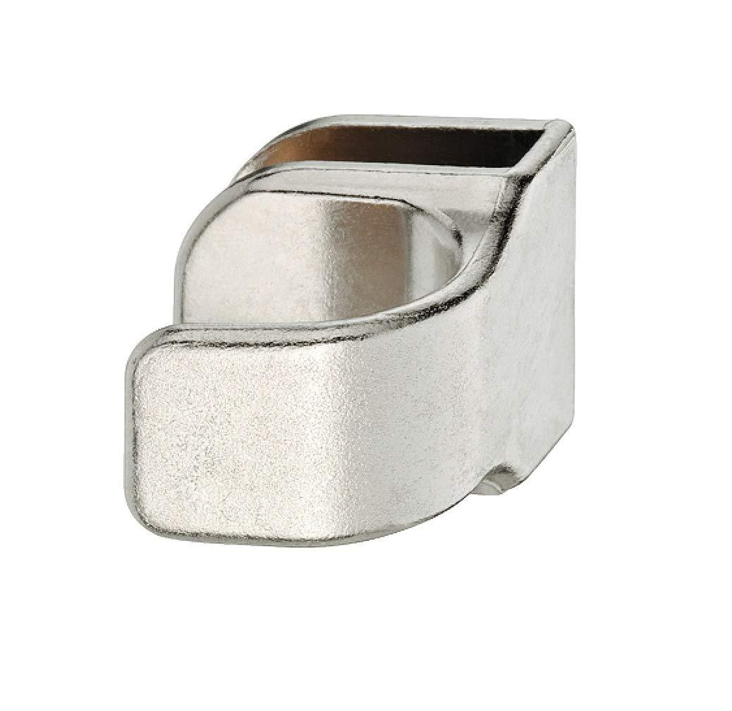 GedoTec Manija de puerta de vidrio Manijas de muebles para Puertas de cristal Fundició n de zinc Tirador Grueso de cristal 4 - 6 mm niquelado mate hecho en Alemania GedoTec®