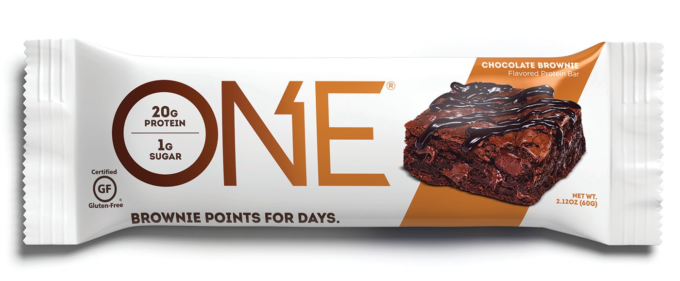 ONE Protein Bar, Chocolate Brownie, 2.12 oz. (12 Pack), Gluten-Free Protein Bar with High Protein (20g) and Low Sugar (1g), Guilt Free Snacking for Healthy Diets