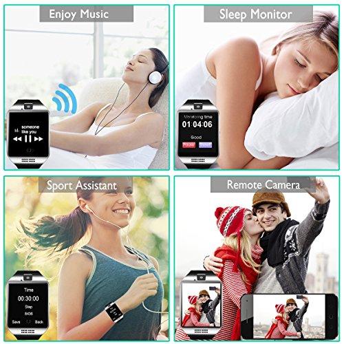 Bluetooth Smart Watch with Camera Waterproof Smartwatch Touch Screen Phone Unlocked Cell Phone Watch Smart Wrist Watch Smart Watches for Android Phones iOS Smartphone Men Women Kids by IFUNDA (Image #6)