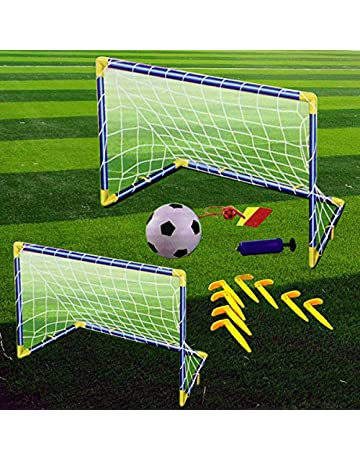 d39e52ace Denny International Kids Children Football Goal Post Net Ball With Pump  Whistle Toy Indoor/Outdoor