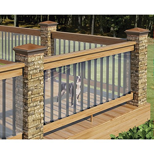 Clear Plastic Deck Railing Shield - By Cardinal Gates - 180