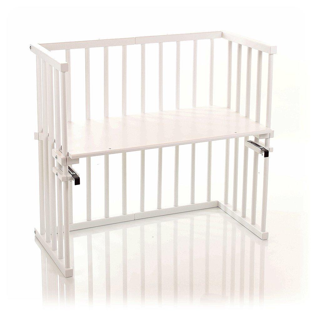 Babybay midi 120102 - Cuna esquinera multiusos barnizada en blanco [importado de Alemania] product