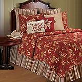C&F Home Lily Garden Full/Queen 3 Piece Quilt Full/Queen 3 Piece Set Red