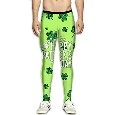 Fri St.Patrick's Day Compression Pants/Running Tights Baselayer Mens Winter Pants Men High Waist