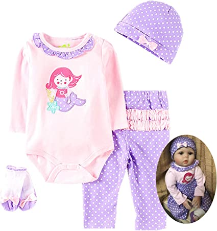 22 inch Reborn Girl Clothing Set Newborn Baby Doll Suit Clothes NO DOLL