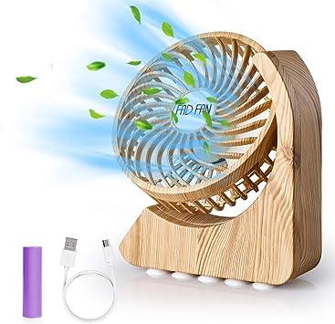 GeeRic Ventilador USB Recargable Mini Ventiladores Ventilador de ...