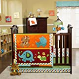 Kids Line Animal Parade 9 Pc Crib Set For Sale