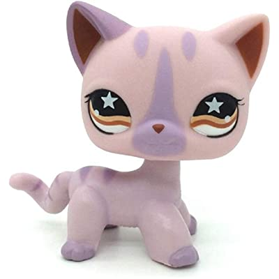 Rare Littlest Pet Toy Light Purple Siamese Short Haired Cat LPS- # 933: Toys & Games