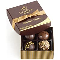 GODIVA Chocolatier Chocolate Truffles, Premium Chocolate, Signature, 2.75 oz