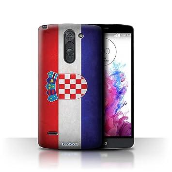 Carcasa/Funda STUFF4 dura para el LG G3 Stylus/D690 / serie: Banderas - Croacia/croata