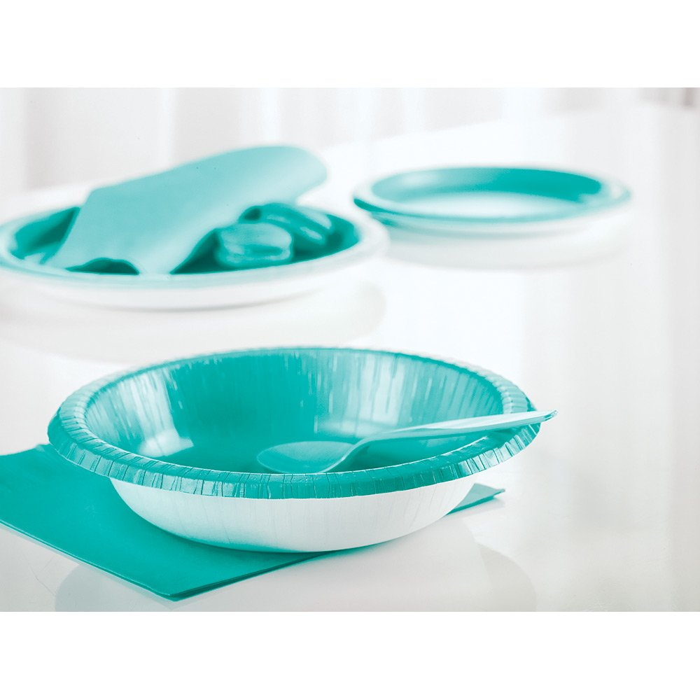 Creative Converting 324780 Touch of Color 240 Count 12 oz Plastic Cups, Teal Lagoon by Creative Converting (Image #2)