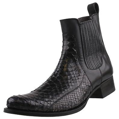 974123a0761fa Sendra Boots Men s Python 10855 Black Black Size  9  Amazon.co.uk ...
