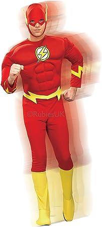 Para hombre Deluxe The Flash Rubies disfraz con músculos de ...