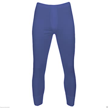 2 Mens Thermal Underwear Long Johns Blue: Amazon.co.uk: Sports ...