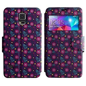 LEOCASE flores de color rosa Funda Carcasa Cuero Tapa Case Para Samsung Galaxy S5 I9600 No.1004462