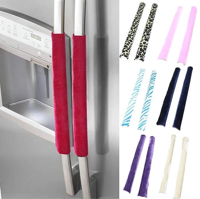 Jxxz 1 par de cubiertas para manijas de puerta de refrigerador ...