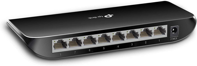 TP-Link TL-SG1008D - Gigabit Switch de Red con 8 Puertos (10/100/1000Mbps, Sin Configuración)
