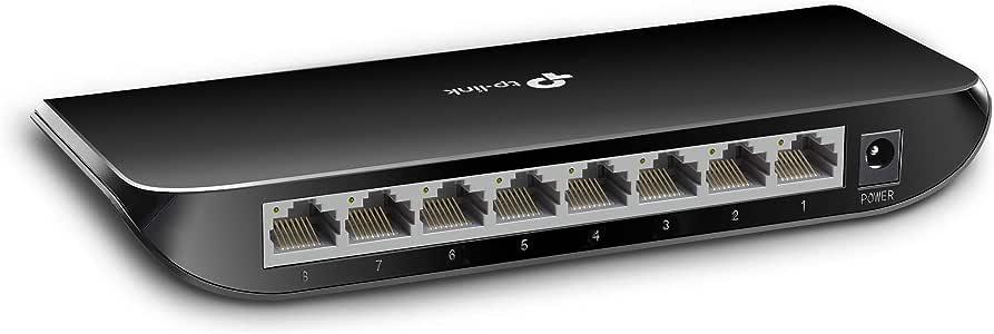 TP-Link 8 Port UNMANAGED Desktop Switch GbE(8) Steel CASINGBLACK3YR WTY