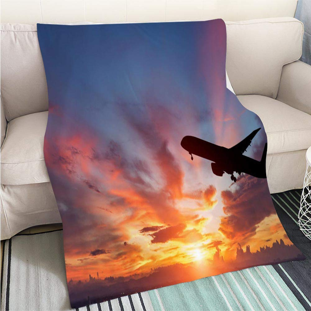 color17 39 x 59in BEICICI Super Soft Throw Thicken Blanket The Shard in Central London at Dusk Sofa Bed or Bed 3D Printing Cool Quilt