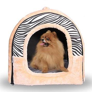 JiaYue Productos para mascotas Forma Curva Plegable Perro Cama Impermeable Cálida Cremallera Fácil de Desmontar,