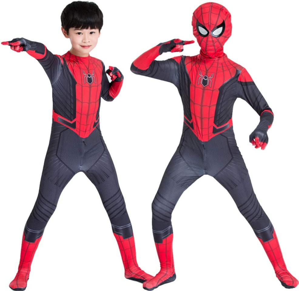 WEDSGTV Disfraz Infantil Spiderman para Niño Poderes De Superhéroe ...
