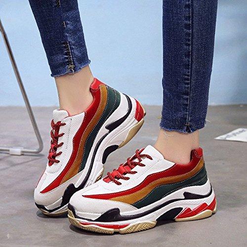 amp;G De Souliers Chaussures Féminine Femme 6Cm Mix Plate NGRDX Couleur Baskets Confortables Femmes De Forme pwUAqCdxn