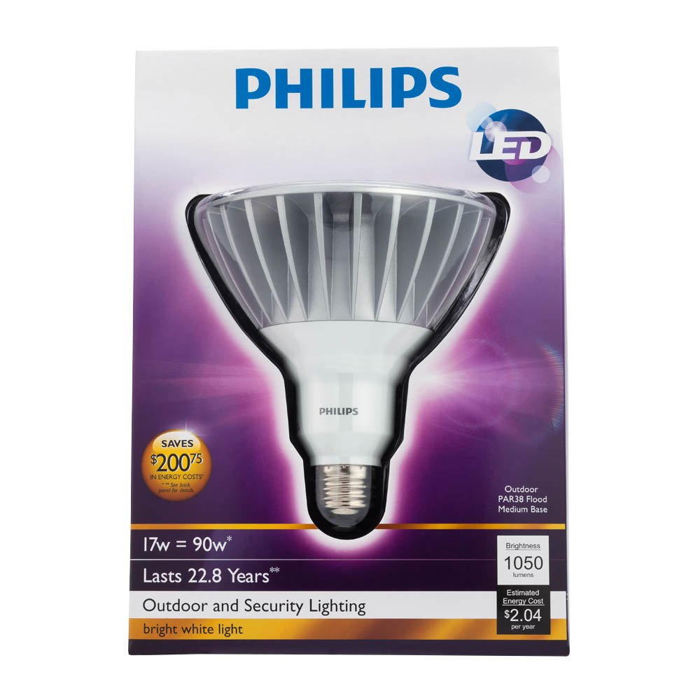 Philips 422196 17 watt 90 watt par38 led outdoor flood light bulb philips 422196 17 watt 90 watt par38 led outdoor flood light bulb led household light bulbs amazon aloadofball Gallery