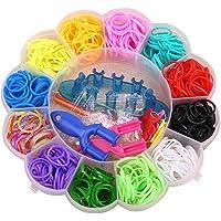 Loom Rubber Bands Kit,Regenboog Loom Rubber Bands Kit DIY Armband Maken Kit DIY Crafting Tools voor kinderen en…