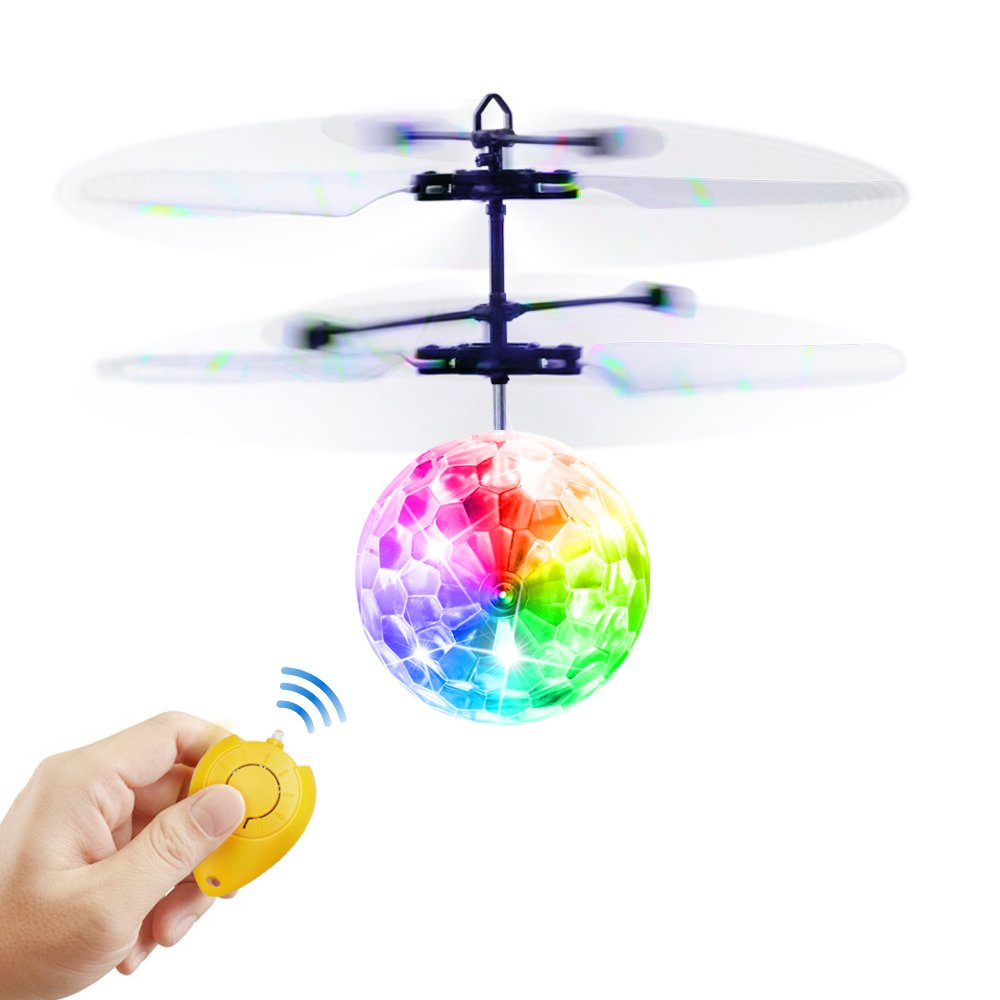 Betheaces Flying Ball, RC Flying Toy, Boys Toys, Infrared Induction Helicopter Drone with Colorful Shinning LED Light and Remote Controller for Kids, Gifts for Boys and Girls, Indoor and Outdoor Game by Betheaces (Image #1)