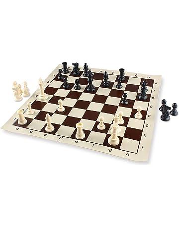 Andux Juego de ajedrez Completo Tablero Plegable Casillas QPXQ-01 (42x42cm)