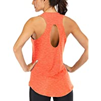 ICTIVE Women's Yoga Top Backless Workout Tank Tops for Women Sleeveless Keyhole Open Back Racerback Muscle Tanks