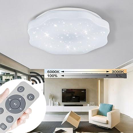 YESDA LED Deckenleuchte Deckenbeleuchtung Wohnzimmer Deckenlampe Korridor  Schlafzimmer Schönes Mordern Lampe (48W Dimmbar)
