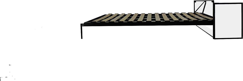 Wallbedking Cama doble vertical de estudio de pared de 135 cm ...
