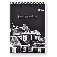 Container Siyah Esguisse Çizim Defteri, Siyah Kağıt, Siyah Sert Kapaklı Üstten Spiralli, Eskiz, A5, 50 Yaprak