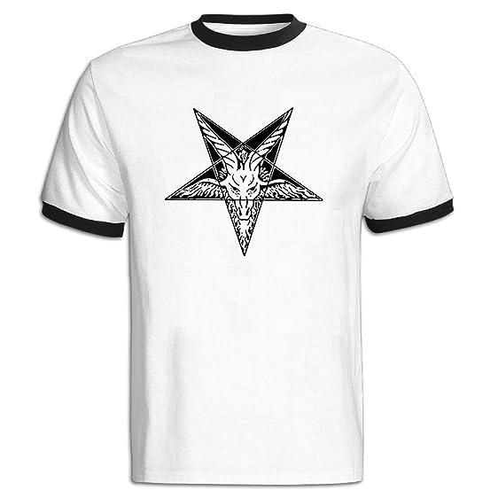 Amazon Mens Pentagram Design Studio Satanic Goat Devil Symbol