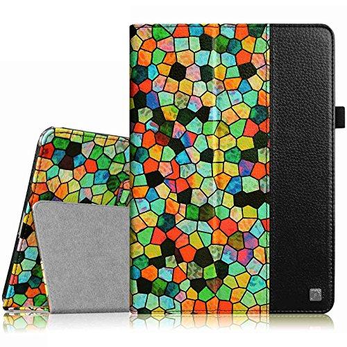 Fintie iPad mini 1/2/3 Case - Folio Slim Fit Vegan Leather Case with Smart Cover Auto Sleep / Wake Feature for Apple iPad mini 1 / iPad mini 2 / iPad mini 3, Stained Glass Mosaic