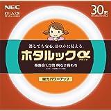 NEC 丸形蛍光灯(FCL) ホタルックα 30形 RELAX色 (電球色タイプ)