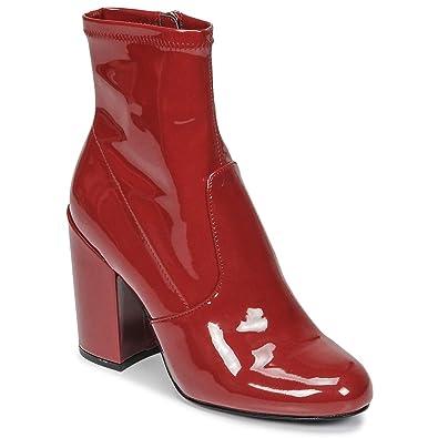 e4652081a7c Steve Madden Gaze Stiefelletten Boots Damen Rot Low Boots  Amazon.de ...